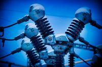 Dyrt elpris pressar företag. Arkivbild
