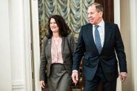 Ann Linde och Rysslands utrikesminister Lavrov