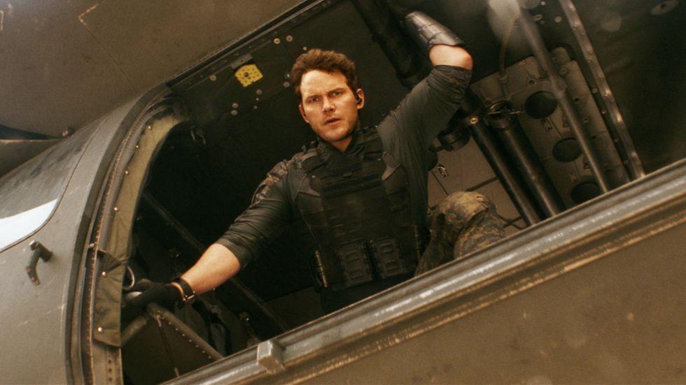 """Chris Pratt i en närmast parodiskt Chris Pratt:ig roll i """"The tomorrow war""""."""
