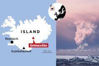 Vulkanen Grímsvötn på Island.