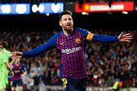 Inhopparen Lionel Messi ordnade Barcelonas segermål mot Levante – och säkrade därmed klubbens ligatitel.