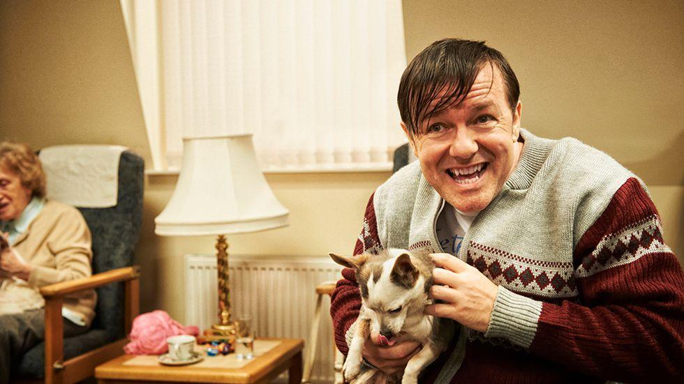 "Ricky Gervais i dramakomedin ""Derek""."
