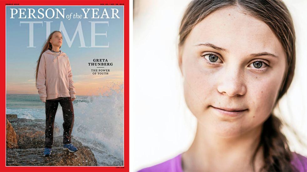 Greta Thunberg, årets person enligt Time Magazine.