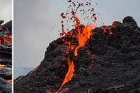 Största kratern i aktiva vulkanen kan kollapsa