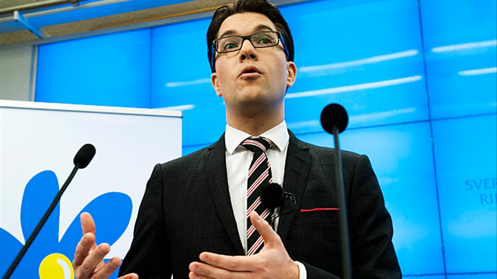 SD-ledaren Jimmie Åkesson på en presskonferens den 14 november.