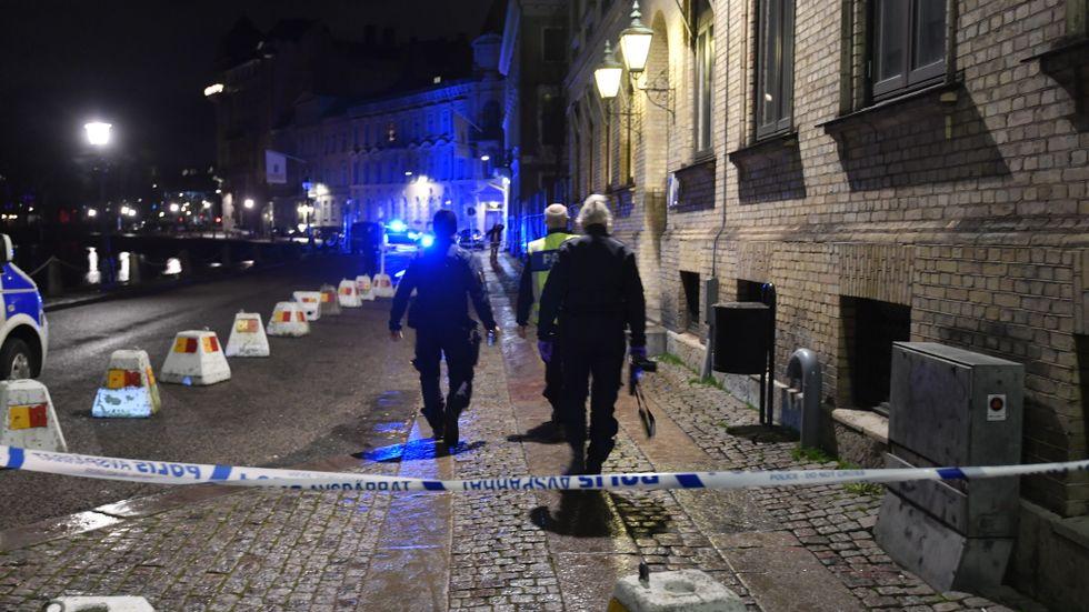 Judiska församlingen i Göteborg, december 2017. Flera personer kastade brinnande föremål mot församlingens lokaler vid synagogan.