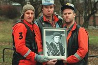 """Thomas Norström, Lennart Jähkel och Jacob Nordensson har gestaltat den norrländske mannen i """"Pistvakt"""" på Pistolteatern, som tv-serie och på bio."""