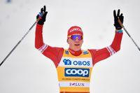 Rysslands Alexander Bolsjunov vann masstarten i Falun.