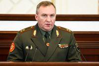 Belarus försvarsminister Viktor Chrenin placeras på EU:s sanktionslista efter nedtvingandet av ett Ryanairplan över Belarus nyligen. Arkivfoto.
