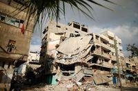 Ett hus i Gaza City som förstörts i en israelisk luftattack.