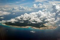 Korallön Norra Sentinel i Bengaliska viken där en ung amerikan dödades av urbefolkningen, som regelmässigt reagerar våldsamt på besök från omvärlden. Arkivbild.