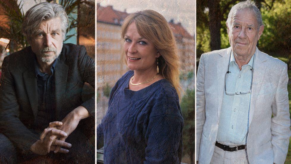 Karl Ove Knausgård, Anna Wahlgren, Per Wästberg.