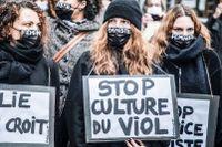 Franska kvinnor demonstrerade mot övergrepp och sexuella trakasserier efter Metoo – men fick inte med sig kultureliten på tåget.