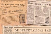Tom Selander skrev 73 understreckare i SvD 1947–77.
