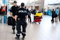 Ökad bevakning även på Værnes flygplats på torsdagen,