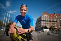 Triatleten Lisa Nordén kan tänka sig en start i OS Tokyo som cyklist. Arkivbild