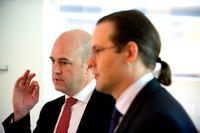 Såväl finansminister Anders Borg som statsminister Fredrik Reinfeldt försökte via sina statssekreterare övertala Stockholmslandstinget att inte gå vidare med NKS-affären. (Bilden är tagen i juni 2010.)