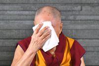 Dalai lama under besöket i Malmö 2018.