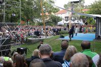 Bild från Almedalen i Visby den 3 juli 2019.