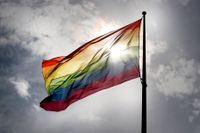Prideflaggan. Arkivbild.