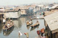 Den flytande kåkstaden i Lagos, Nigeria. År 2007 översteg befolkningen i världens städer för första gången antalet människor som lever på landsbygden.
