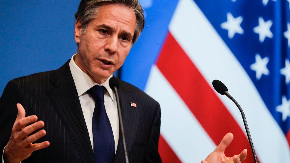 USA:s utrikesminister Antony Blinken i Bryssel på onsdagen.