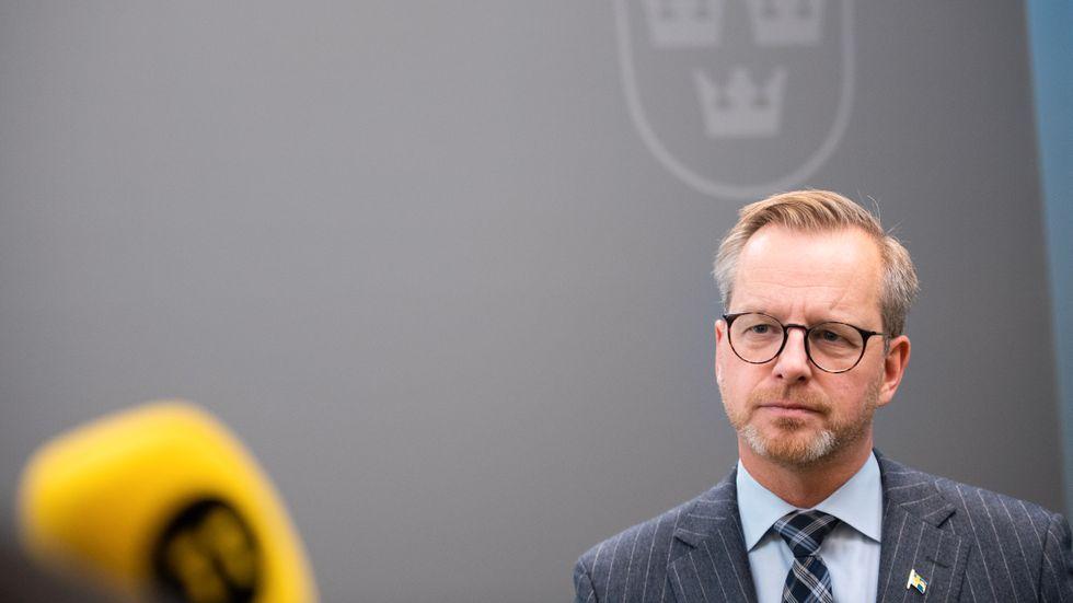 Inrikesminister Mikael Damberg (S) behåller publikundantaget. Bild från tidigare i november.