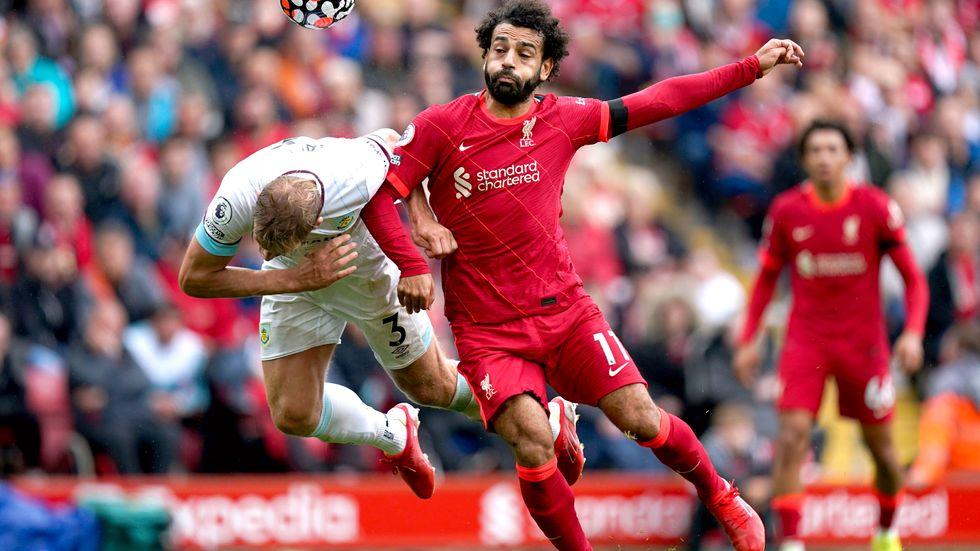 Liverpoolstjärnan Mohamed Salah är en av spelarna som stoppas. Arkivbild.