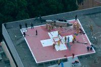 Helikoptern kraschade på Kecksjukhusets tak i förra veckan.