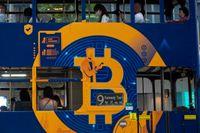 Kina bannlyser bitcoin. Arkivbild