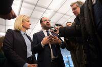 Finansminister Magdalena Andersson (S) och bostadsminister Mehmet Kaplan (MP) mötte pressen efter överläggningar med Alliansen om framtida bostadspolitik, tidigare i februari.