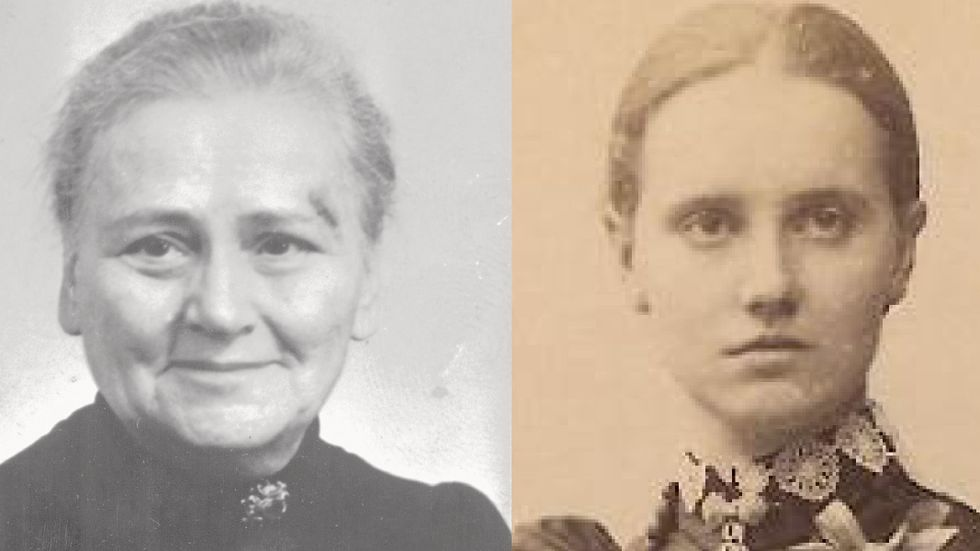 Annie Åkerhielm (1869–1956) och Anna Söderblom (1870–1955).