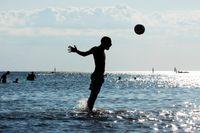 Lomma beach – en välbesökt badstrand i Skåne.