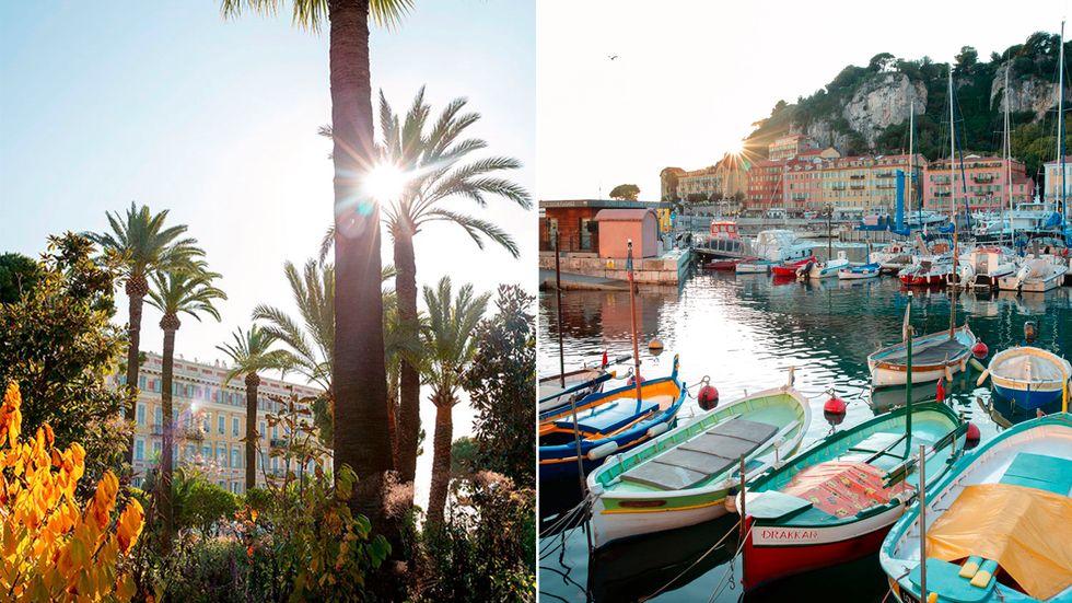 Ingen risk att frysa. Under vintern är det alltid runt 20 grader mitt på dagen i Nice.