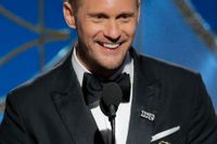 Alexander Skarsgård vid nattens Golden Globe-gala.