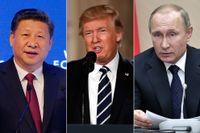 Xi, Trump och Putin.