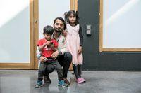 Usman Asif med dottern Ifrah Usman och sonen Abdullah Usman.