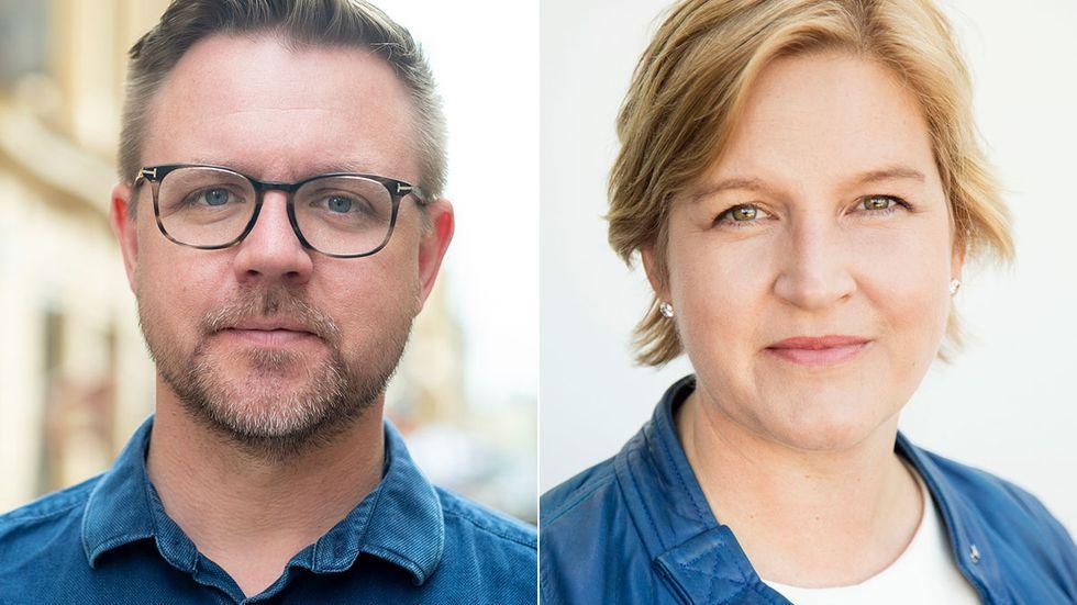 Europaparlamentarikerna Fredrick Federley och Karin Karlsbro.