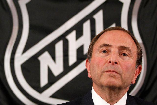 NHL-basen Gary Bettman.