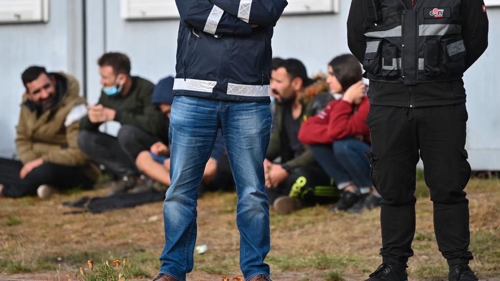 Allt fler människor tar sig över gränsen till Tyskland via Polen och Belarus, meddelar tysk polis. Bilden togs i staden Eisenhüttenstadt förra veckan.