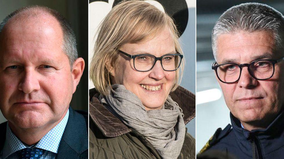 Dan Eliasson, Lena Erixon, Stefan Thornberg.