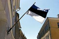 Estniska flaggan i Tallinn.