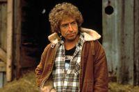 "Bob Dylan i filmen ""Hearts of fire"" 1987."