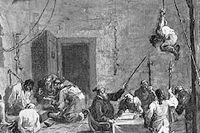 Spanska inkvisitionen skildrad av Alessandro Magnasco (bilden är beskuren).