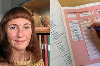 Maria Johansson, utvecklare av högskoleprovets orddel sedan 2008, ser en fortsatt nedgång av ordkunskapen bland provtagarna.