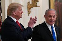 USA:s president Donald Trump och Israels premiärminister Benjamin Netanyahu. Arkivbild.