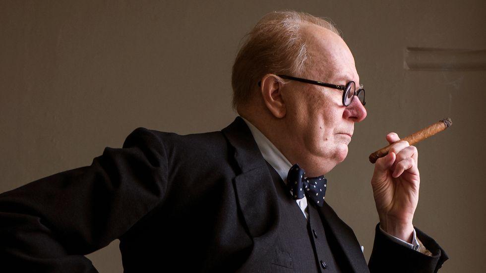 Gary Oldman är nominerad till en Oscar för bästa manliga huvudroll för rollen som Winston Churchill.