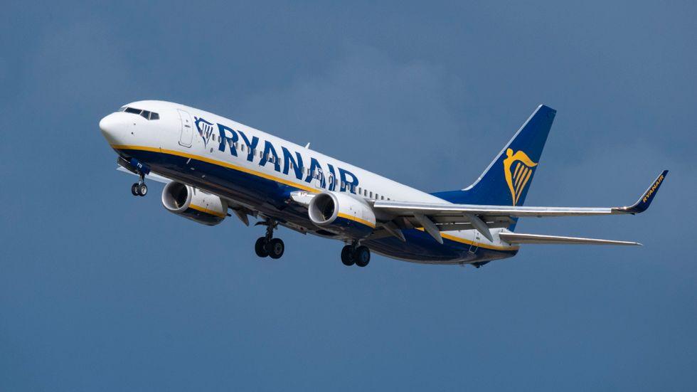Ryanair höjer sin trafikprognos för helåret i samband med delårsrapporten för första kvartalet. Arkivbild.