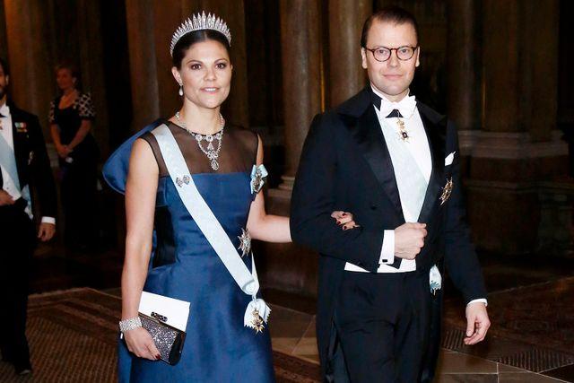 Kronprinsessan Victoria och prins Daniel vid Nobelpriset 2014