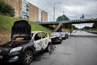 Utbrända bilar i Malmö. Syns alltför ofta.